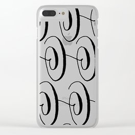 Curly Pattern 06 Clear iPhone Case