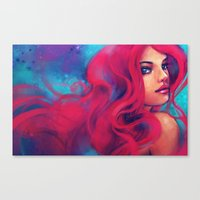 alicexz Canvas Prints featuring Daughter of Triton by Alice X. Zhang