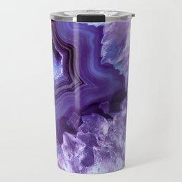 Purple Lavender Quartz Crystal Travel Mug