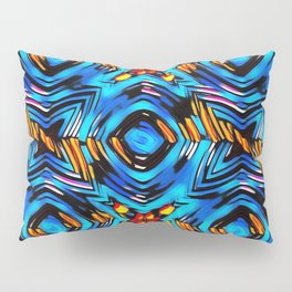 Blue-red abstract Pillow Sham