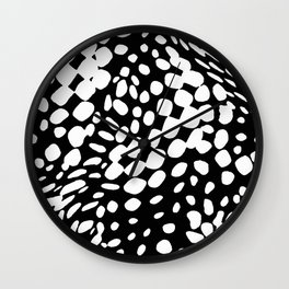 DOTS DOTS BLACK AND WHITE DOTS PATTERN Wall Clock
