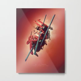 Al-Fitnah (The Temptation) - Red Metal Print