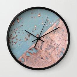Melting Copper Wall Clock