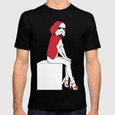 Red riding hood trooper Black Mens Fitted Tee MEDIUM