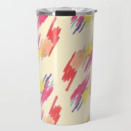 Abstract Colorful Pattern Travel Mug