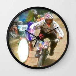 s&m bikes racer Wall Clock