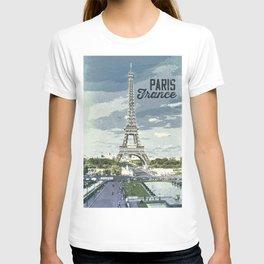 Paris, France / Vintage style poster T-shirt