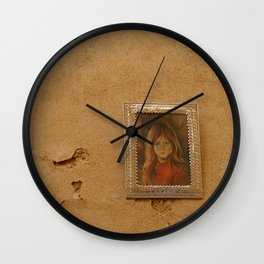 The Crying girl by Lika Ramati Wall Clock