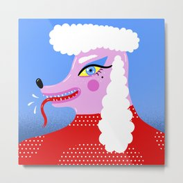 Rebel Poodle Metal Print