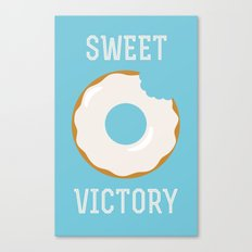 Sweet Victory (Better Known as a Donut) Canvas Print