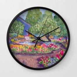 Prescott Park Portsmouth NH Watercolor Wall Clock
