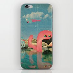 lago animato iPhone Skin