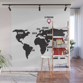 La casa de Papel Money Heist Map Wall Mural
