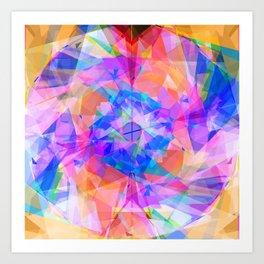 Modern bright pink lavender abstract kaleidoscope pattern Art Print