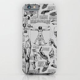 Da Vinci's Anatomy Sketchbook // Silver iPhone Case
