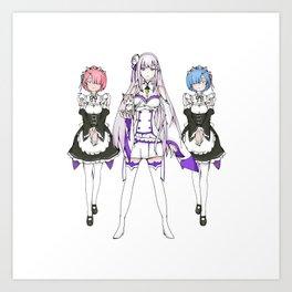 Re:ZERO Art Print