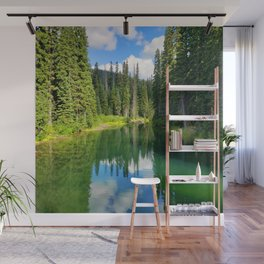 Pacific North West Alpine Lake Wall Mural