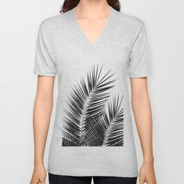 Black Palm Leaves Dream - Cali Summer Vibes #1 #tropical #decor #art #society6 Unisex V-Neck