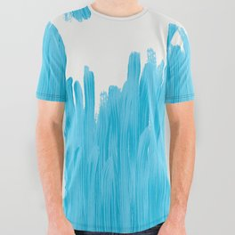 Sea of Blue Painted All Over Graphic Tee