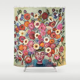 Your thoughts are seeds Shower Curtain