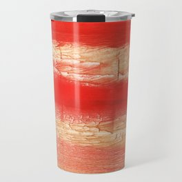 Burnt sienna abstract watercolor Travel Mug