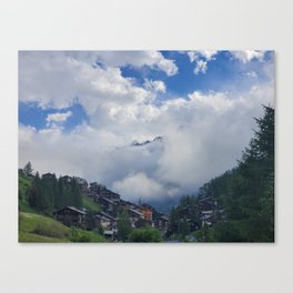The Alps Breaking through the Morning Fog Canvas Print