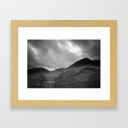 White house on the shore. Buttermere. Lake District. Framed Art Print