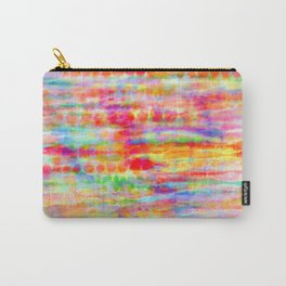 Light Rainbow Tie Dye Stripes Carry-All Pouch