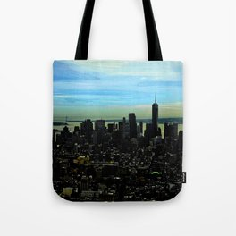 Artistic NYC Skyline Tote Bag