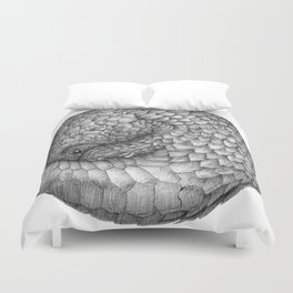 The Infinite Pangolin Duvet Cover