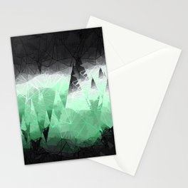 Modern Abstract Green Mountain Design Stationery Cards