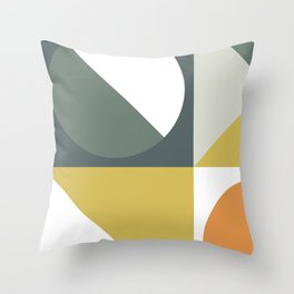 Mid Century Geometric 01 Throw Pillow