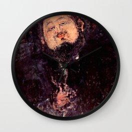 "Amedeo Modigliani ""Diego Rivera"" Wall Clock"