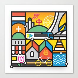 Encore Montreal by Loogart Canvas Print