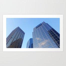 Three glass giants Art Print