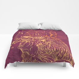 El Briguento - The Fighter (Golden) Comforters