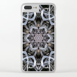 Dark natural mandala by twisted tree branches Clear iPhone Case