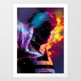 Neon Hot-Cold Art Print