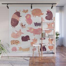 Pig Pig Pig Wall Mural