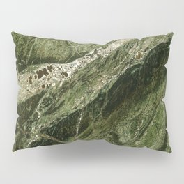 Marble Rain Forest Green Pillow Sham