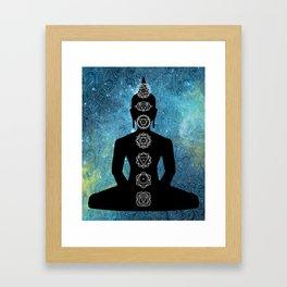 Sacred Geometry - Chakras Aligned Framed Art Print