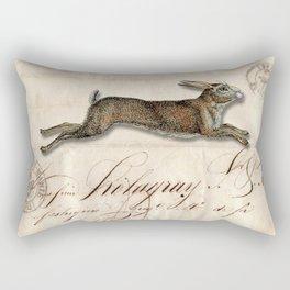 The French Rabbit Rectangular Pillow