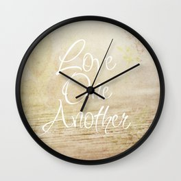 Love One Another Wall Clock