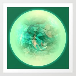 Chrystal Glow Green Abstract Art Print