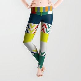 Festive happy stripes Leggings