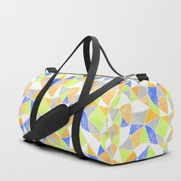 Abstract graphic pattern. Fun triangles. Duffle Bag
