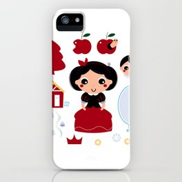 Beautiful and adorable snow white set iPhone Case