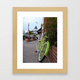 The Green Bike Framed Art Print