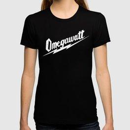 Omegawatt (white text) T-shirt