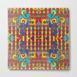 Razzle Dazzle Trippy Art Inspired from Summer 2016 Olympics in Brazil by LeahQuinnDesigns Metal Print